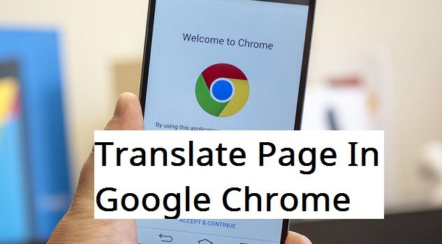 translate page with chrome